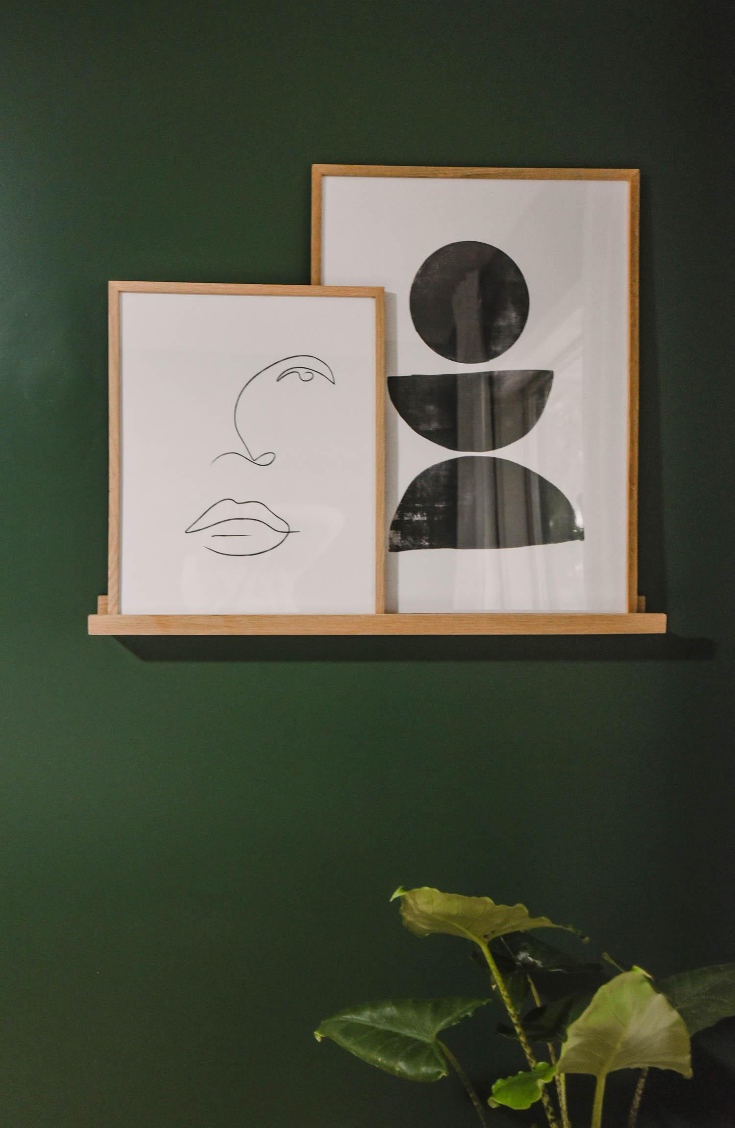 Modern artwork in a classic home