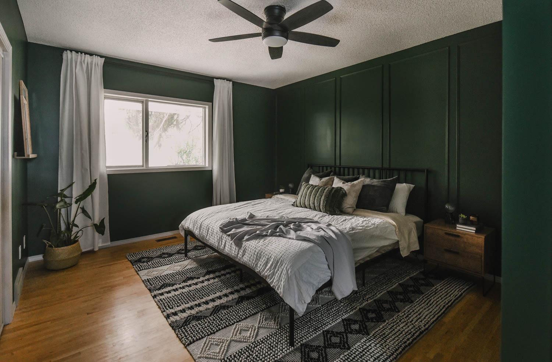 Green Bedroom Makeover